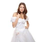 Young beautiful caucasian bride Stock Images