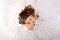 Young beautiful caucasian bride Royalty Free Stock Photography