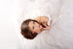 Young beautiful caucasian bride Stock Photography