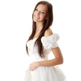 Young beautiful caucasian bride Royalty Free Stock Photo