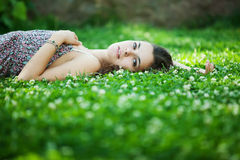 Young beautiful caucasian woman Stock Image