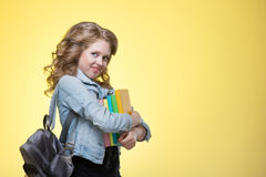 Young beautiful cheerful student girl Royalty Free Stock Photos