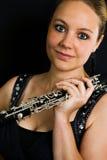 Young beautiful clarinetist Stock Photos