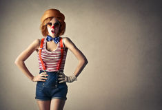 Young beautiful clown stock images