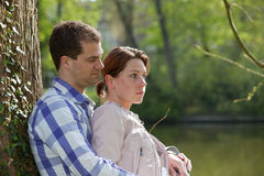 Young beautiful couple royalty free stock photography