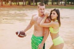 Beautiful sporty couple Stock Photo