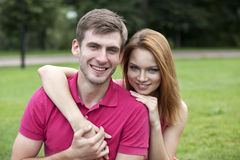 Young beautiful couple close up Royalty Free Stock Image