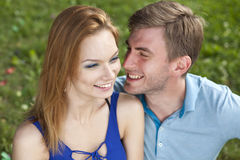 Young beautiful couple close up Royalty Free Stock Photo