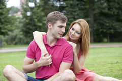 Young beautiful couple close up Royalty Free Stock Photography