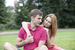 Young beautiful couple close up Stock Photography