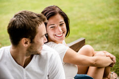 Young beautiful couple dating Royalty Free Stock Photography