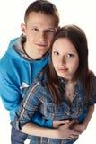 Young beautiful couple embracing Royalty Free Stock Photos