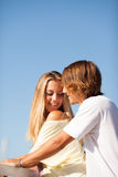 Young beautiful couple enjoying a summer day Royalty Free Stock Photo