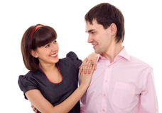 Young beautiful couple laughing Royalty Free Stock Images