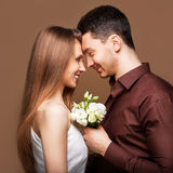 Young beautiful couple in love Stock Photography