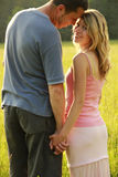 Young beautiful couple in love outdoors Royalty Free Stock Photos