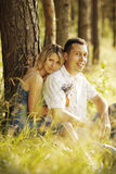 Young beautiful couple in love outdoors Royalty Free Stock Photography
