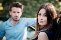 Young beautiful couple lovers Stock Photography