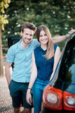 Young beautiful couple lovers Stock Images