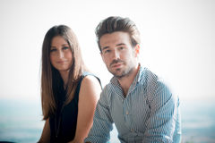 Young beautiful couple lovers Royalty Free Stock Photos