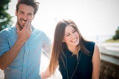 Young beautiful couple lovers Royalty Free Stock Image