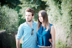 Young beautiful couple lovers Royalty Free Stock Photography