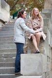Young beautiful couple in Paris Stock Photos