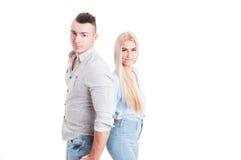 Young beautiful couple posing Stock Photography