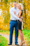 Young beautiful couple posing Stock Images