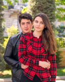 Young beautiful couple relaxing outdoors Royalty Free Stock Photo