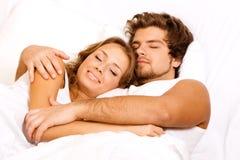 Young Beautiful Couple Sleeping Stock Photos