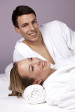 Young Beautiful Couple in the Spa Royalty Free Stock Image