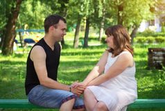 Young beautiful couple. Stock Photos