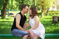 Young beautiful couple. Stock Images