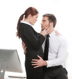 Young beautiful coworkers having affair. Stock Photography