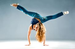 Young and beautiful dancer posing Royalty Free Stock Images