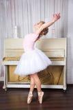 Young beautiful dancer posing in dance studio royalty free stock images