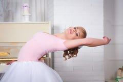 Young beautiful dancer posing in dance studio Royalty Free Stock Image