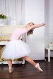 Young beautiful dancer posing in dance studio Stock Photo