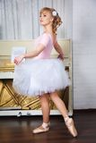 Young beautiful dancer posing in dance studio Stock Image