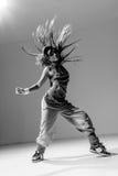 Young beautiful dancer posing in studio Royalty Free Stock Images