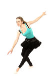 Young beautiful dancer posing on a studio background Royalty Free Stock Image
