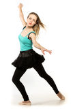 Young beautiful dancer posing on a studio background Royalty Free Stock Images
