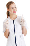 Young beautiful dentist woman with equipment. Stock Photography