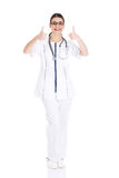 Young beautiful doctor, nurse with stethoscope. Stock Photography