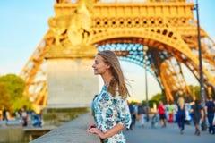 Young beautiful and elegant Parisian woman Stock Photography