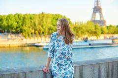 Young beautiful and elegant Parisian woman Royalty Free Stock Photography