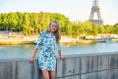 Young beautiful and elegant Parisian woman Stock Image