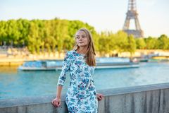 Young beautiful and elegant Parisian woman Stock Images