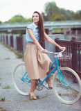 Young beautiful, elegantly dressed woman, summer and lifestyle Stock Images